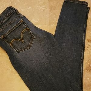 Levi's too super low skinny jeans